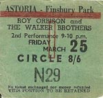 Roy Orbison/Walker Bros ticket