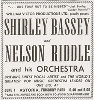 Shirley Bassey advert