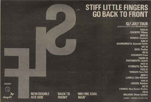 Stiff Little Fingers Tour Advert