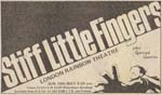 Stiff Little Fingers press advert