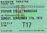 Stephen Still/Manassas ticket