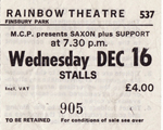 Saxon ticket