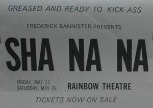 Sha Na Na press advert