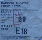 Slade ticket