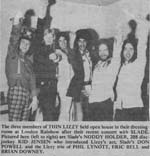 Press article for Slade/Thin Lizzy concert