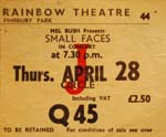 Small Faces ticket