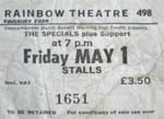 The Specials ticket