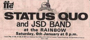 Status Quo and JSD Band advert