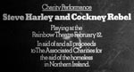 Steve Harley & Cockney Rebel Press Advert