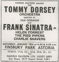 Tommy Dorsey advert