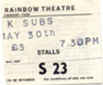 UK Subs ticket