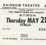 Undertones ticket