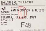 Van Morrisson ticket