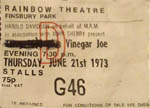 Vinegar Joe ticket