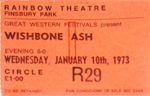 Wishbone Ash ticket