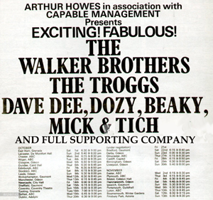 Walker Bros. Tour flyer