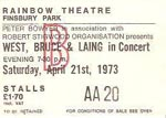 West, Bruce & Laing ticket