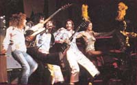 Who on stage with dancing girls, opening concert Rainbow Theatre 1971