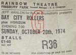Bay City Rollers Ticket