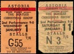 Tickets from Beatles Chrismas Show 1963/4