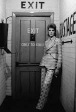 Bowie by stage door