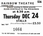 Elvis Costello ticket