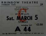 Iggy Pop Ticket