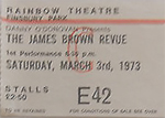 James Brown ticket