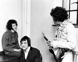 John Walker, Cat Stevens & Jimi Hendrix in the dressing room