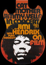 Jimi plays Berkeley concert poster