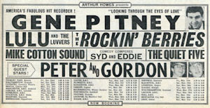 Gene Pitney tour flyer
