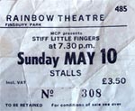 Stiff Little Fingers ticket