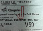 Soft Machine ticket
